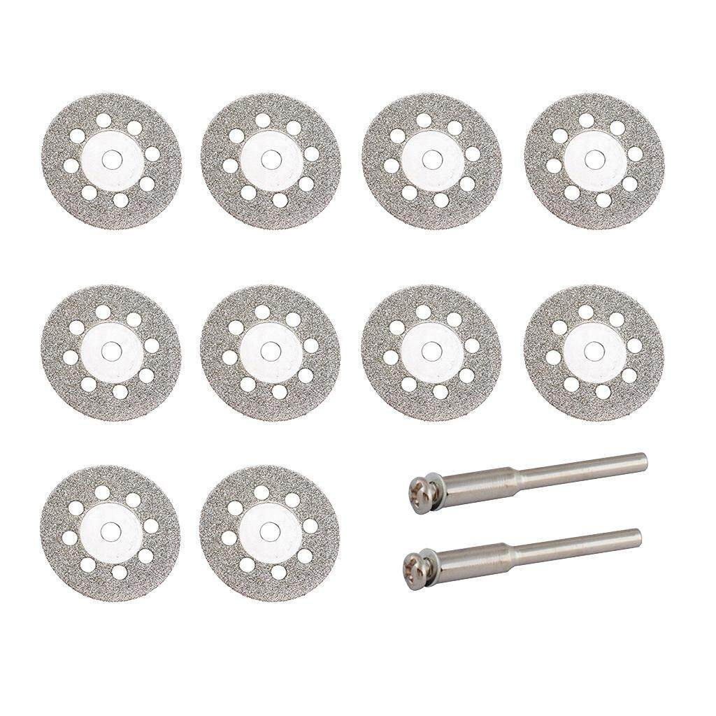 Magideal 10 Pcs Diamond Cutting Discs Drill Bit For Rotary Tool 22mm With Holes By Magideal.