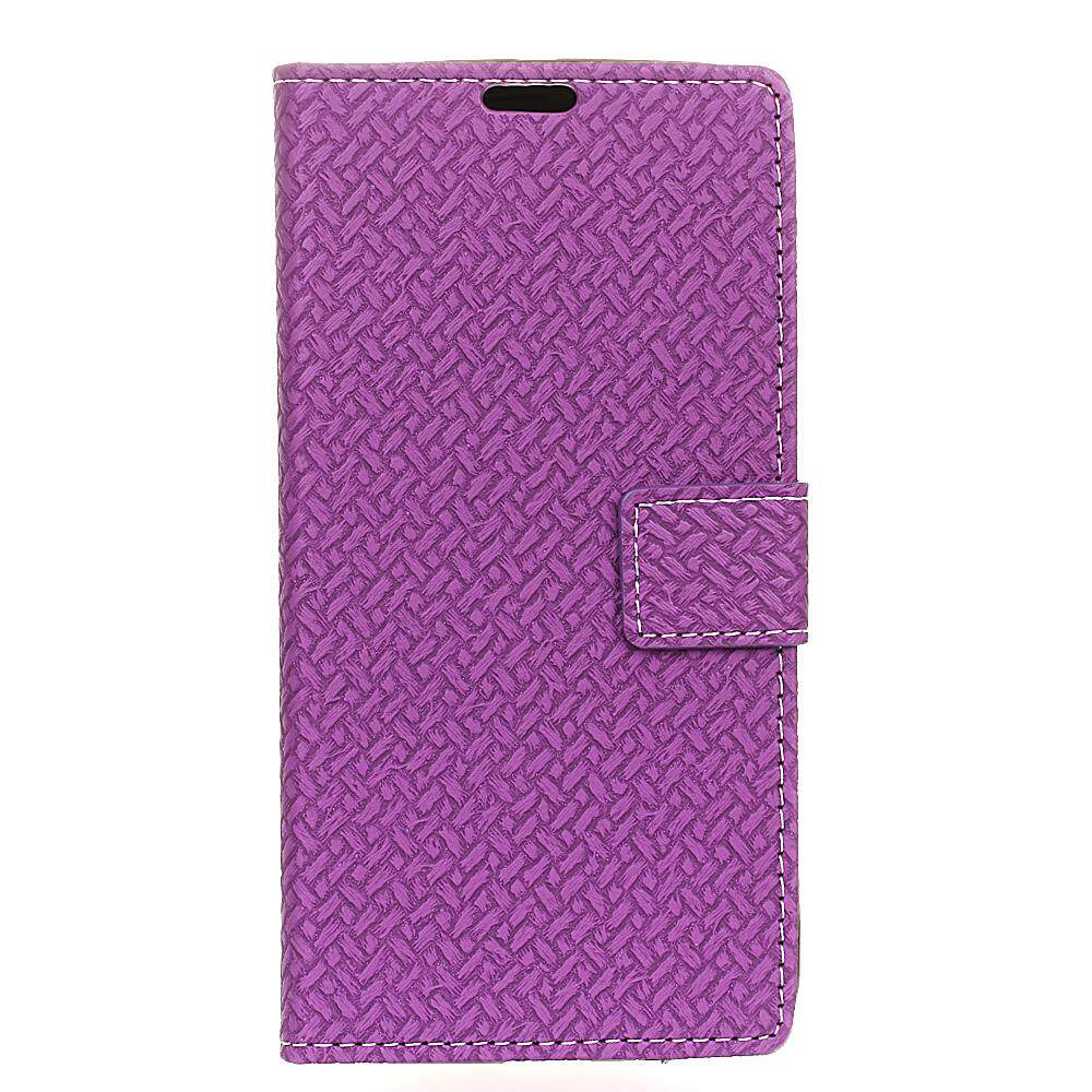 Case for HTC U11 Plus Woven Pattern PU Leather Wallet Case Magnetic Flip Stand Cover with Card Slots Photo Frame - intl