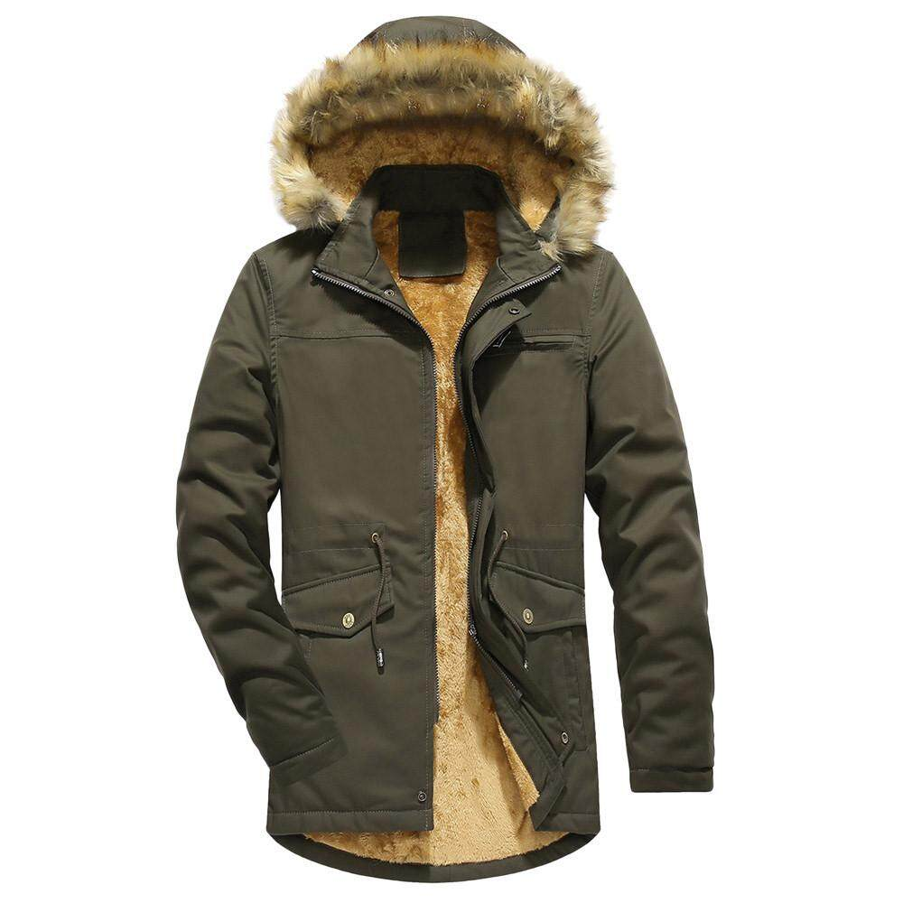 95cf8c949d8ed Featured Men Winter Camouflage Blouse Thickening Coat Outwear Top Blouse  Plus Size