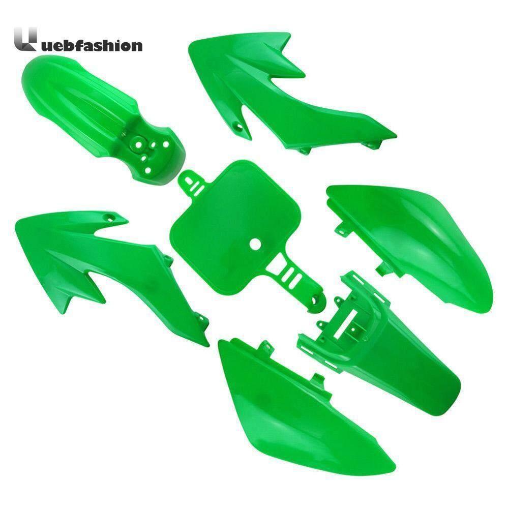 Uebfashion 7 Pcs Motor Plastik Hadiah Untuk Honda Crf 50 Pit Dirt Bike Hijau-Internasional By Uebfashion.