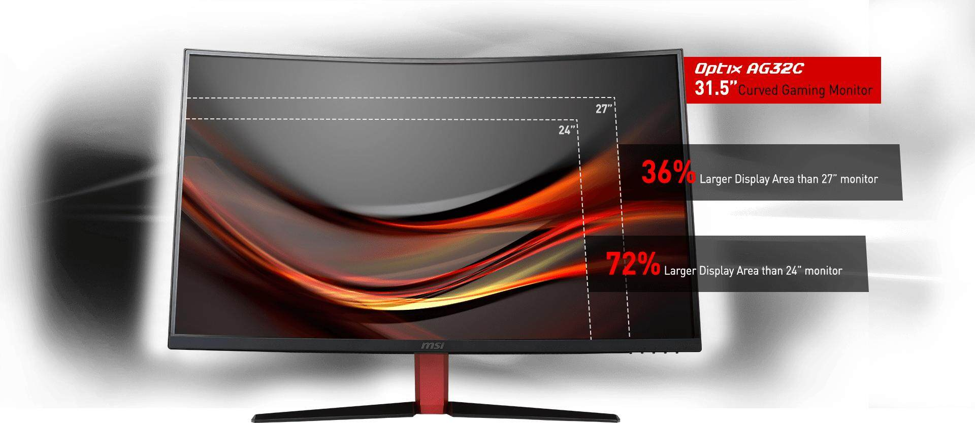 MSI Optix AG32C Curved Gaming Monitor | Game Hypermart