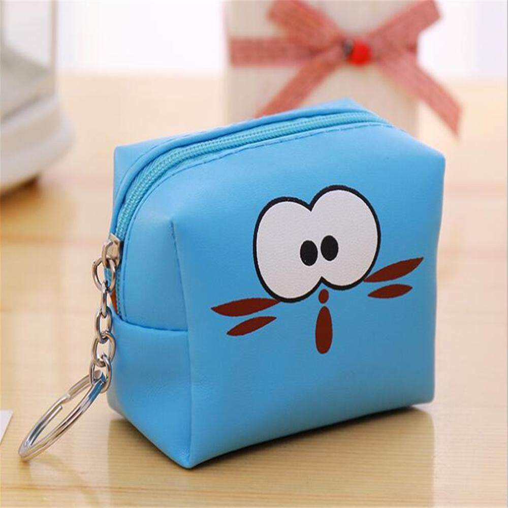 epayst【clearance sale+ready stock】Mini Portable PU Cartoon Coin Purse Wallet Bag with Zipper Closure Easy Storage