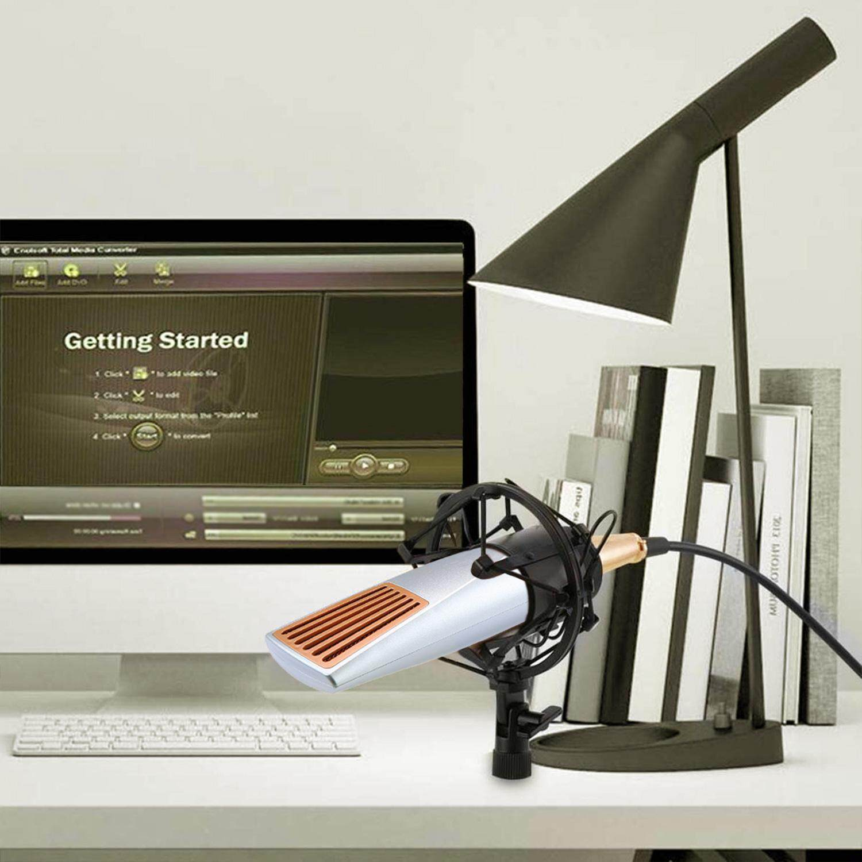 Fitur Kobwa 5pcs Set Professional Studio Broadcasting Recording Gaming Condenser Microphone Bm700 Mic For Pc Laptop Komputer Multipurpose Computer