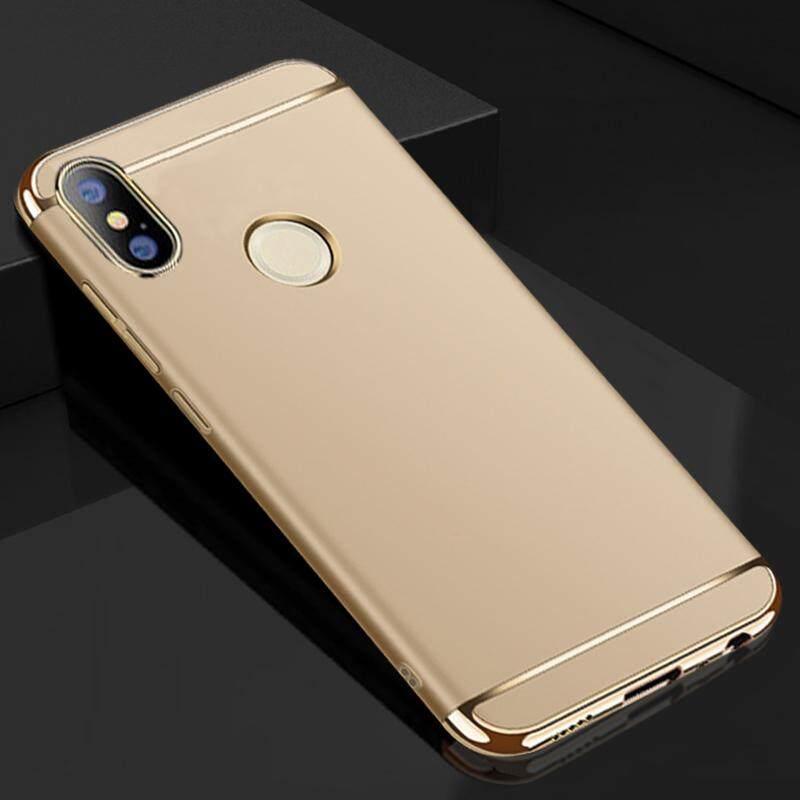 Untuk Xiaomi Redmi Note 5 Case, Luxury 3 Dalam 1 Case Keras Sangat Ramping Cover