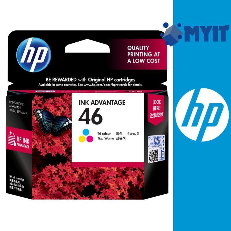 HP Original 46 Color Ink Cartridge for Deskjet 2020hc 2029 2520hc AiO 2529 4729 Tri-color