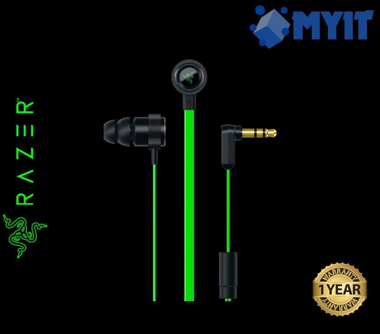 Razer Original Hammerhead V2 Gaming In-Ear Earphone Headset 3.5mm Audio Jack Earpiece for Phone / PC