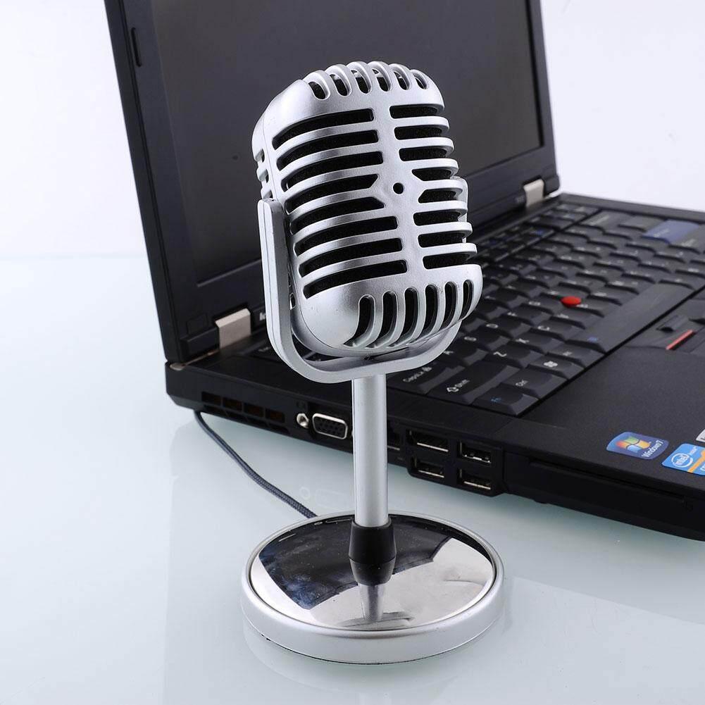 Fitur Efashionmall Clearance Sale Retro Microphone Mic Stand 3 5mm Gaming Studio Condenser Recording Bm700 For Pc Laptop Komputer Detail Gambar 35mm Stereo Singing Karaoke Terbaru