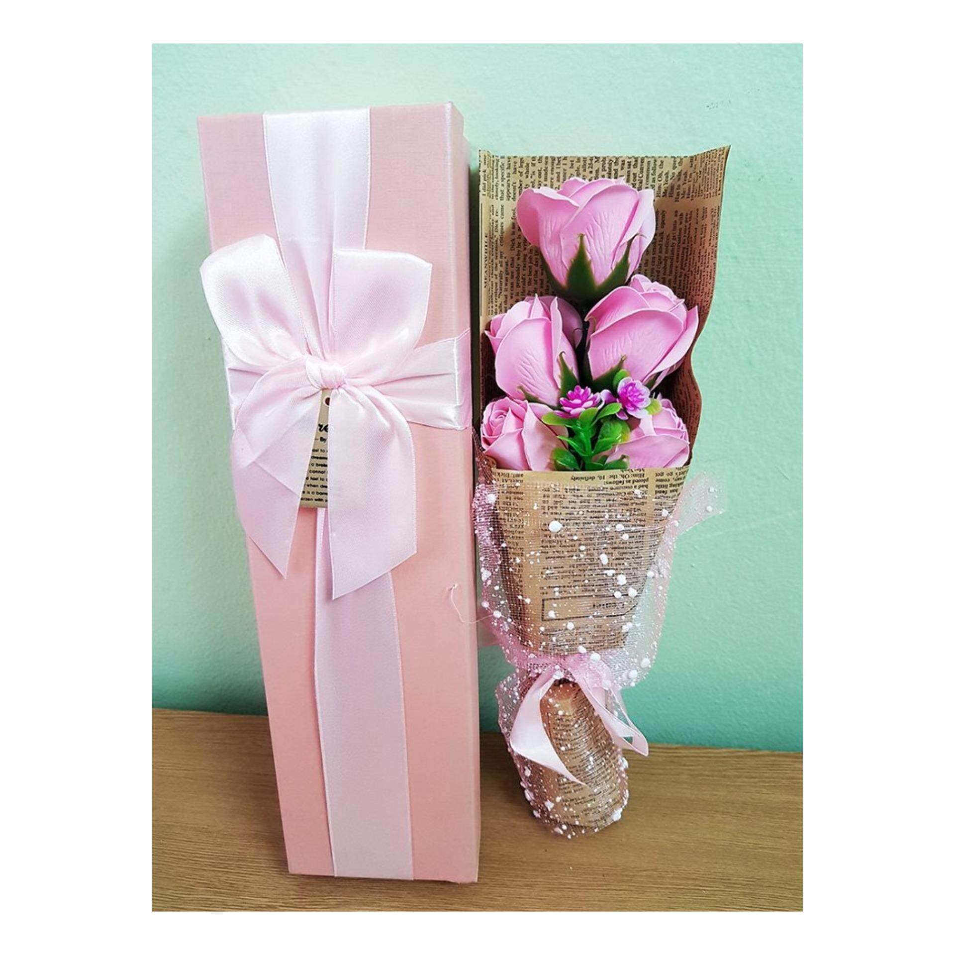 Soap Rose Bouquet Gift Box
