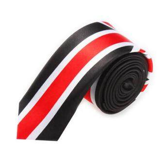 Bandingkan Toko Men Fashion Casual Skinny Slim Narrow Tie Formal Wedding Party Necktie, #40 (Black+White+Red) sale - Hanya Rp173.700