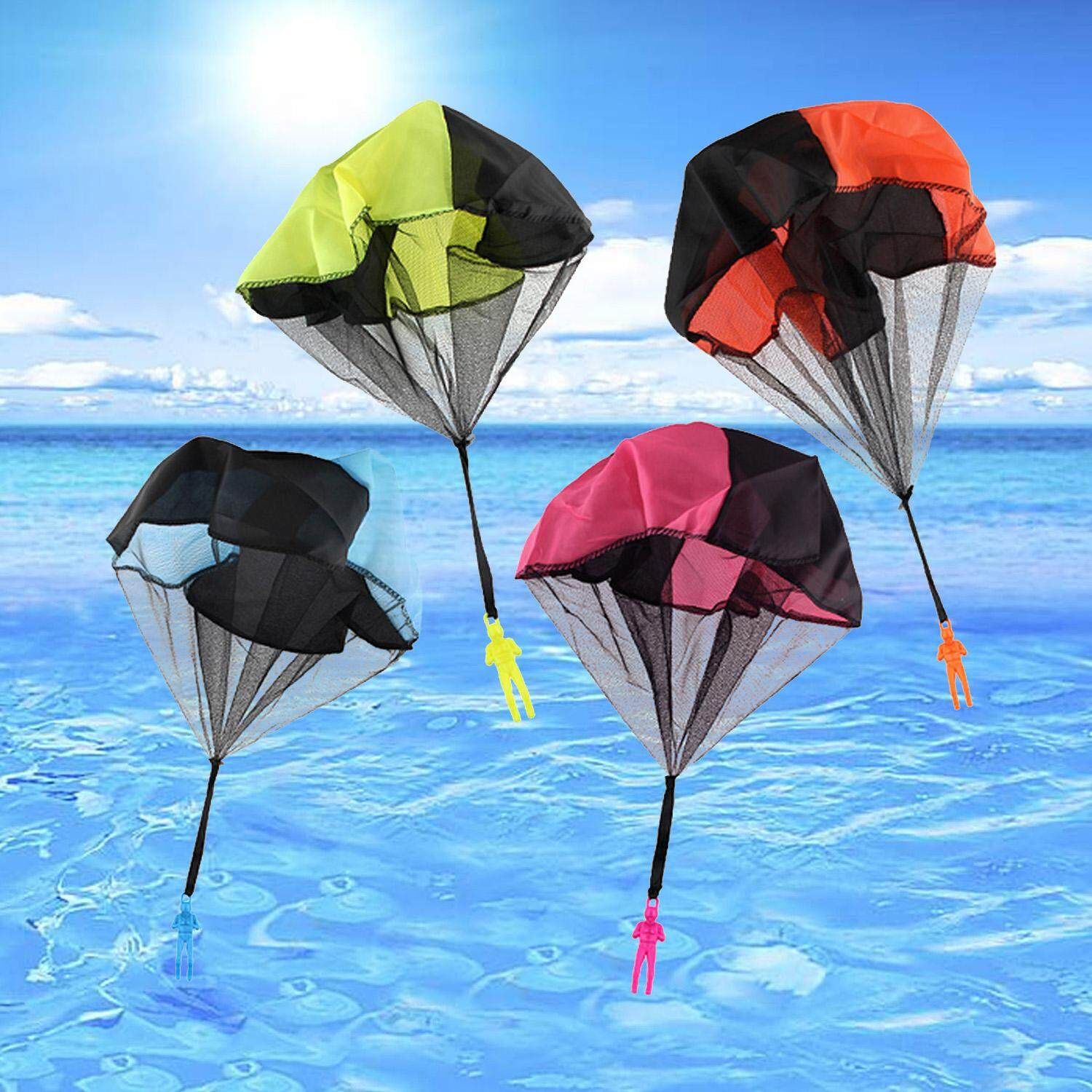 Hình ảnh 4 PCS Tangle Free Hand Throwing Parachute Figures Toy Children Outdoor Flying Toys No Strings Random Colors - intl