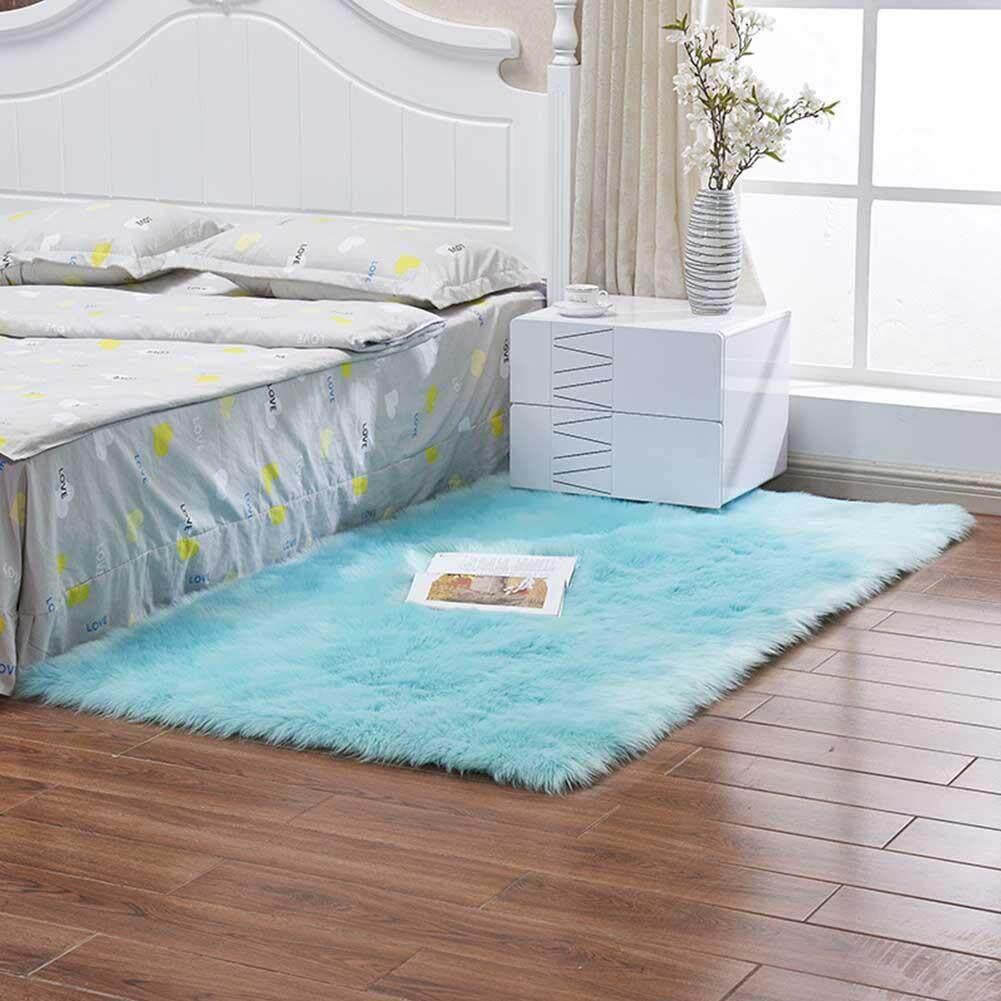 Light 40X40 Cm Dicuci Kulit Domba Tiruan Sarung Kursi Hangat Berbulu Wol Karpet Bantalan Kursi Karpet