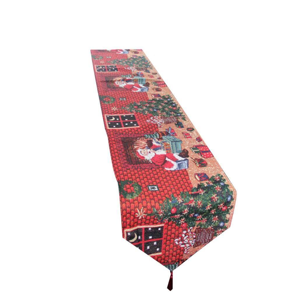 Christmas Table Runner Decorative Santa Dining Table Runner Table Runner Cover