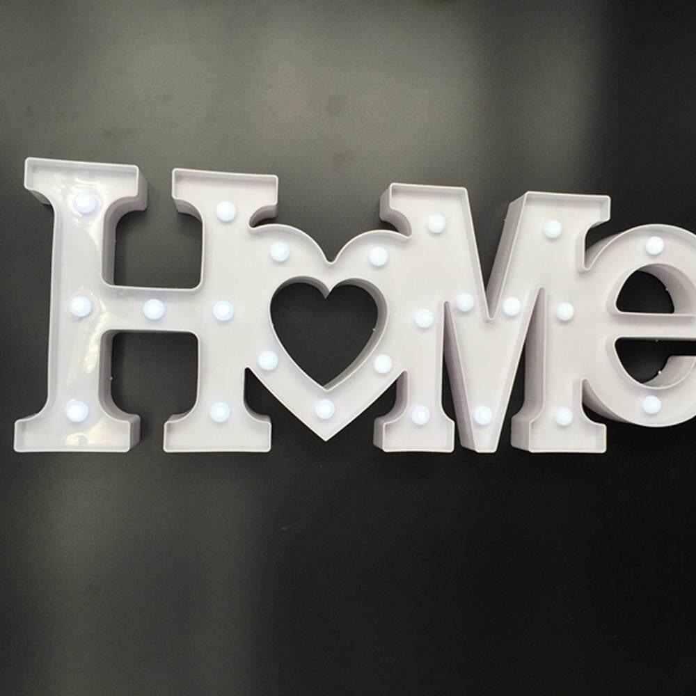 Cute LED Neon Lamp Living Room Bedroom Desktop Decorative Light White HOME - intl