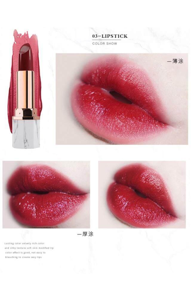 【 3 Bibi Color】it Adalah Marmer Putih Micro Beludru Lipstik Pelembab Lipstik Pelembab Putih Tomat Orange-Brown Tone-Intl