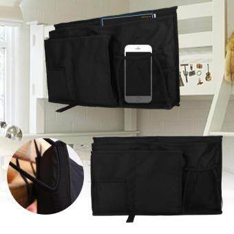 Cheapest today big sale & ready stock Oxford Fabric Baby Bedside Hanging Storage Bag Book Bottle Phone Organizer Pocket (Black) ล่าสุด - มีเพียง ฿105.12