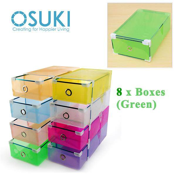OSUKI Transparent Storage Box Drawer Type Shoe Rack (8 Box)