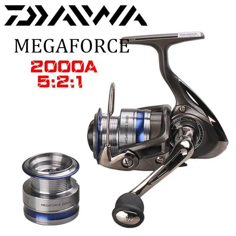 100% Original DAIWA MEGAFORCE Spinning Fishing Reel 2000A/2500A/3000A/4000A With Spare Spool 5BB/5.2:1, 5.3:1 Pesca Moulinet
