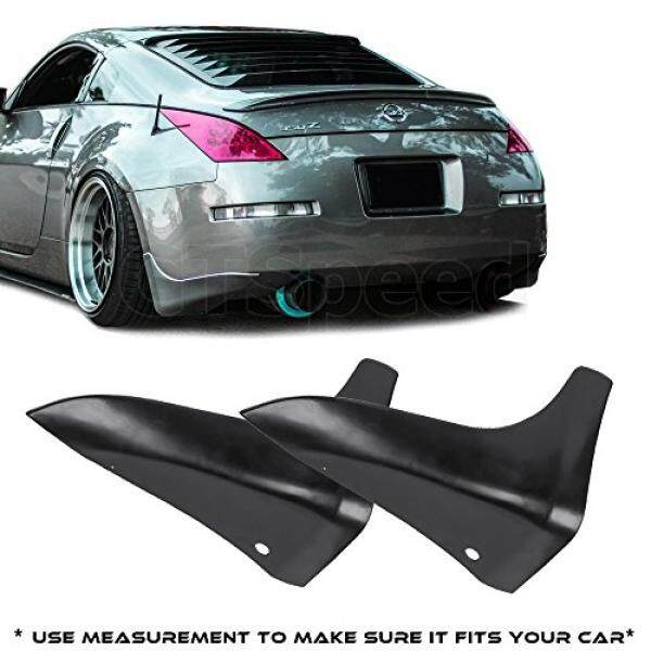 GTSpeed Made for 03-09 Nissan 350Z Fairlady Z Z33 JDM Rear PU Bumper Lip Mud Splash Guards (Use measurement to make sure it fits your car) - intl