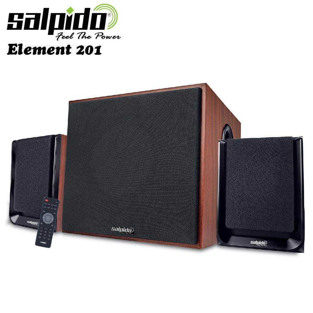 Salpido Element 301 Multimedia Speaker 2.1 Channel Subwoofer (USB / MicroSD Slot, FM Radio, Remote Control) Malaysia