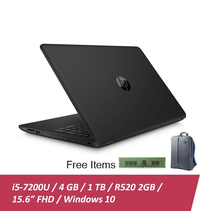 "HP 15-BS641TX Notebook - Black (2LS67PA#UUF) i5-7200U, 4GB Ram, 1TB, 15.6"", Win10 + Free 4GB DDR4 ram n HP Backpack Malaysia"