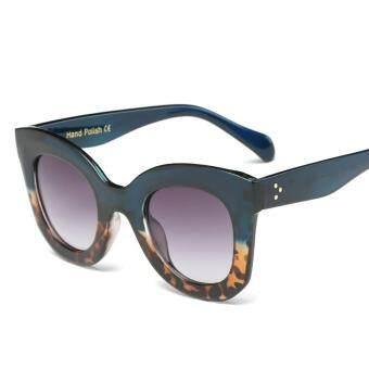 Beli sekarang FC Kacamata Mode untuk Wanita UV400 Mata Kucing Vintage  Gradien Kacamata Hitam untuk Wanita Warna  Biru dan Leopard Frame Gradient  Abu-abu Len ... b6330688d4