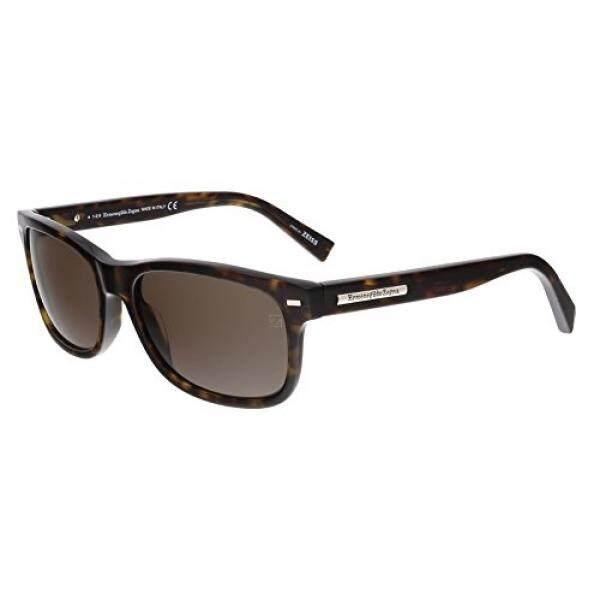 Ermenegildo Zegna Mens EZ0001 Sunglasses, Dark Havana/Roviex - intl