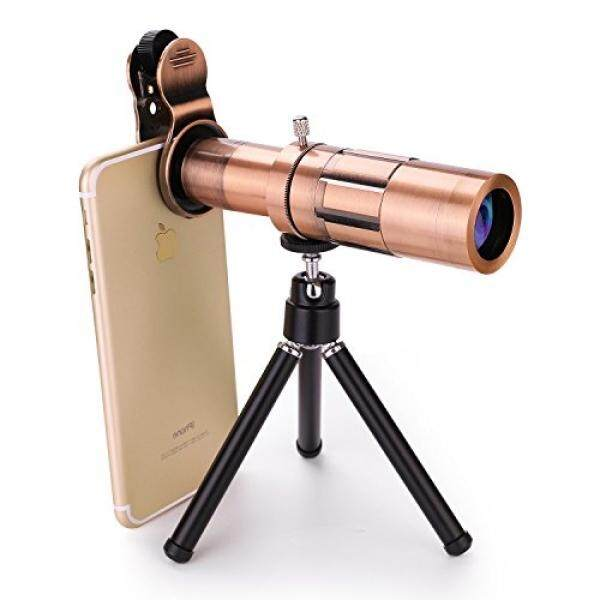 GODEFA Mobile Phone Lens, 20X Telephoto Clip-on Telescope Lens with Flexible Tripod + Universal Clip for iPhone 8/7/6s/6, Samsung Galaxy/Note, Android Phone and Most Smartphones