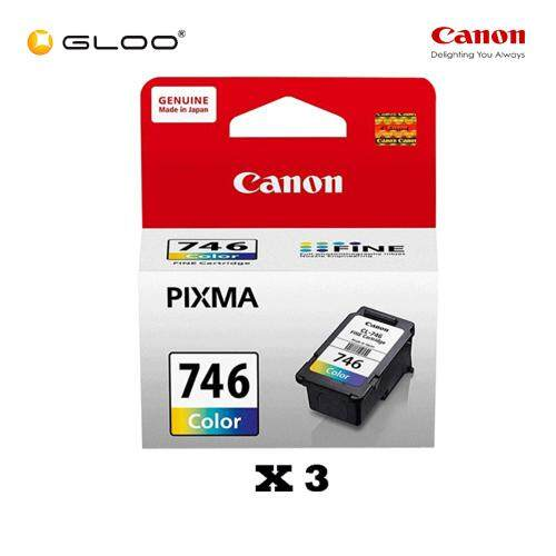 [Set of 3] Canon CL-746 Ink Cartridge - TriColor