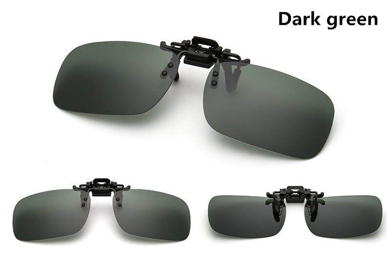 1*Clip-on Filp-up Polarized UV400 Sunglasses Lens US