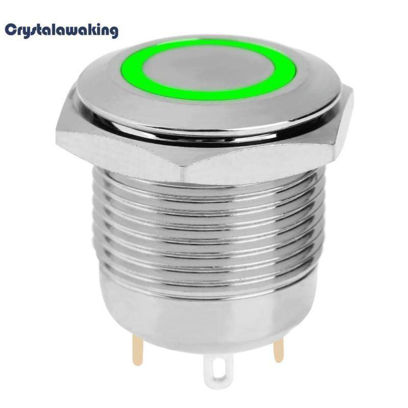 Waterproof 16mm Self Reset Welding Metal Push Button Switch with LED Lamp