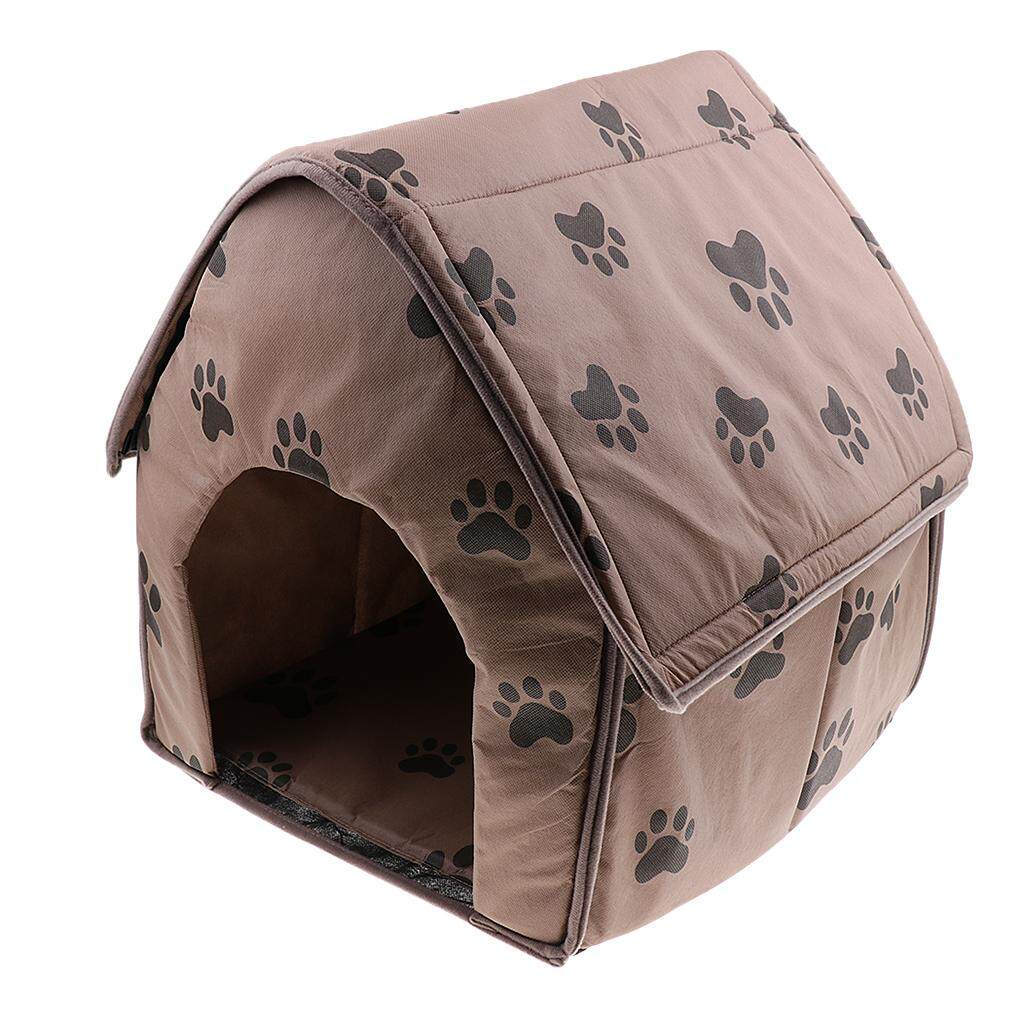 Bolehdeals Portable Pet Dog Cat Puppy Soft House Bed Cat Footprint House Tent Kennel By Bolehdeals.