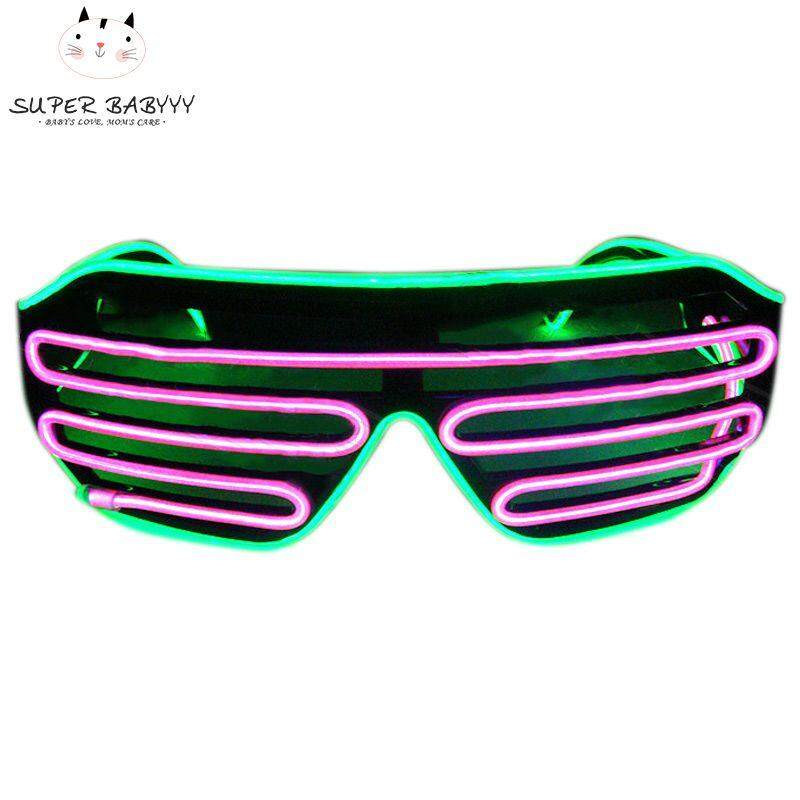 0ca03f619f SBY LED Sunglasses Flashing EL Wire Luminous Light Up Neon Glasses Costumes  Party Decorative Lighting Activing