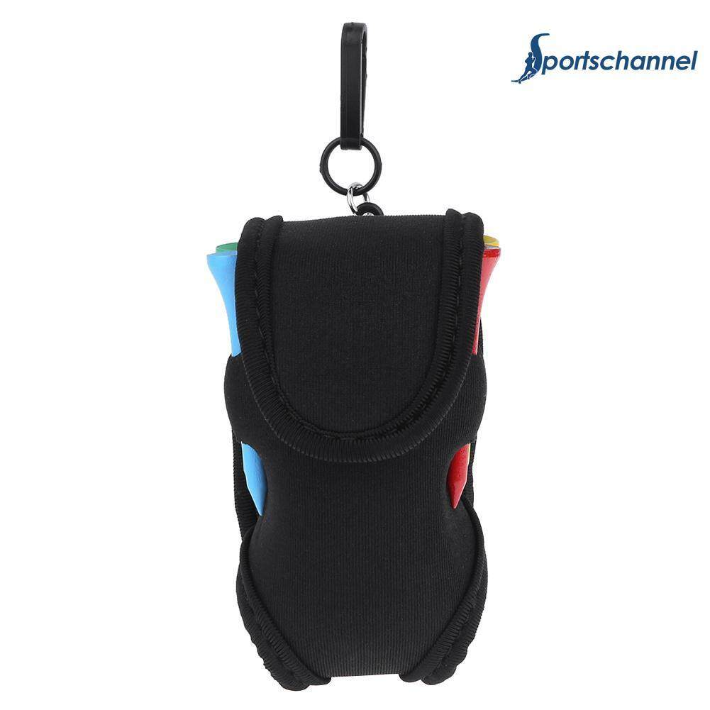 Portable Golf Ball Holder Bag Sbr Neoprene Waist Pack With 4tees - Intl By Sportschannel.