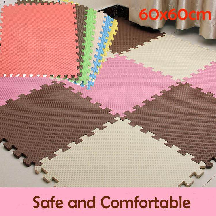 6pcs/set 60x60cm Soft EVA Foam Play Mat Kids Puzzle DIY Toy Floor Carpet -