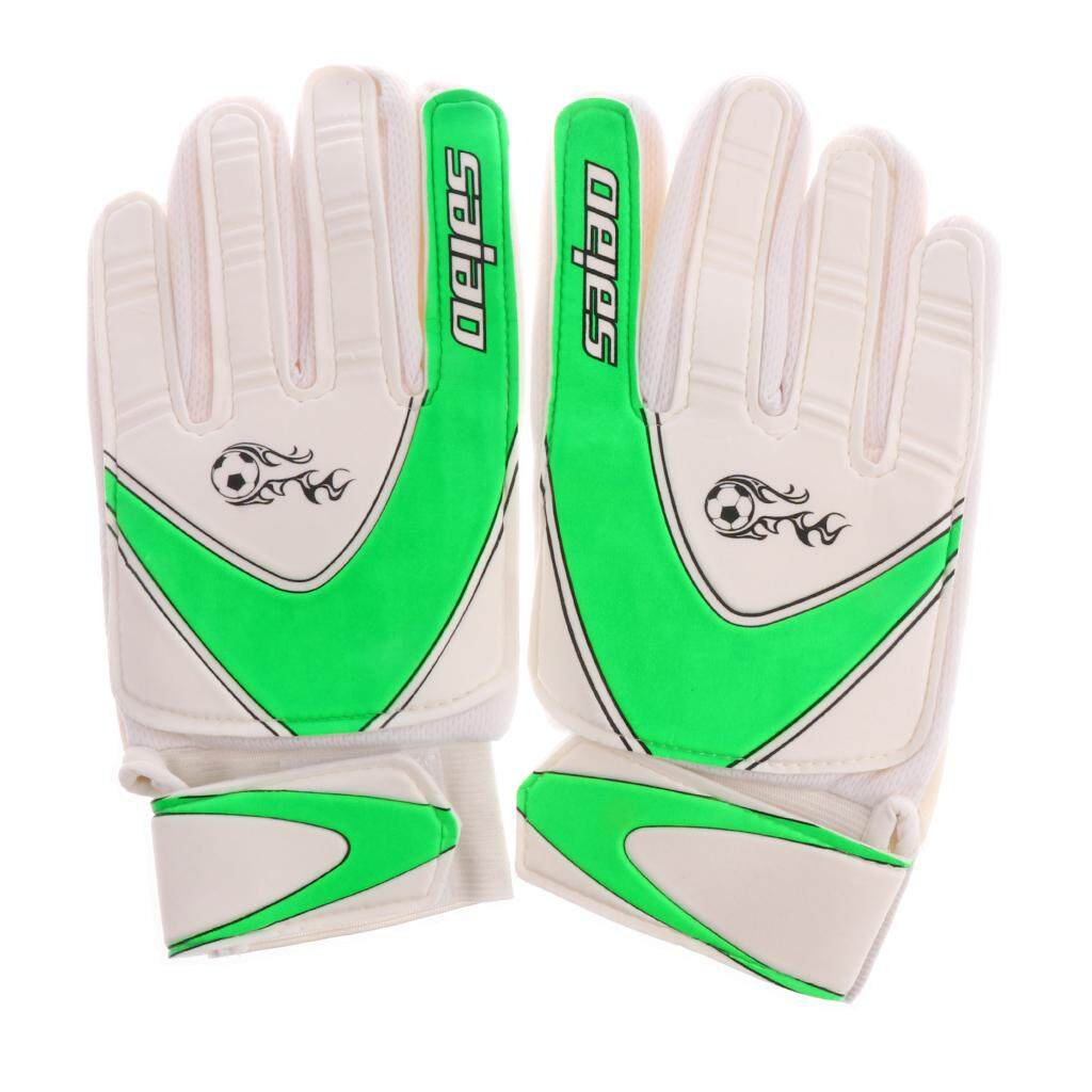 Flameer Soccer Goalie Goalkeeper Gloves Pro Football Finger Saver For Kids Green By Flameer.
