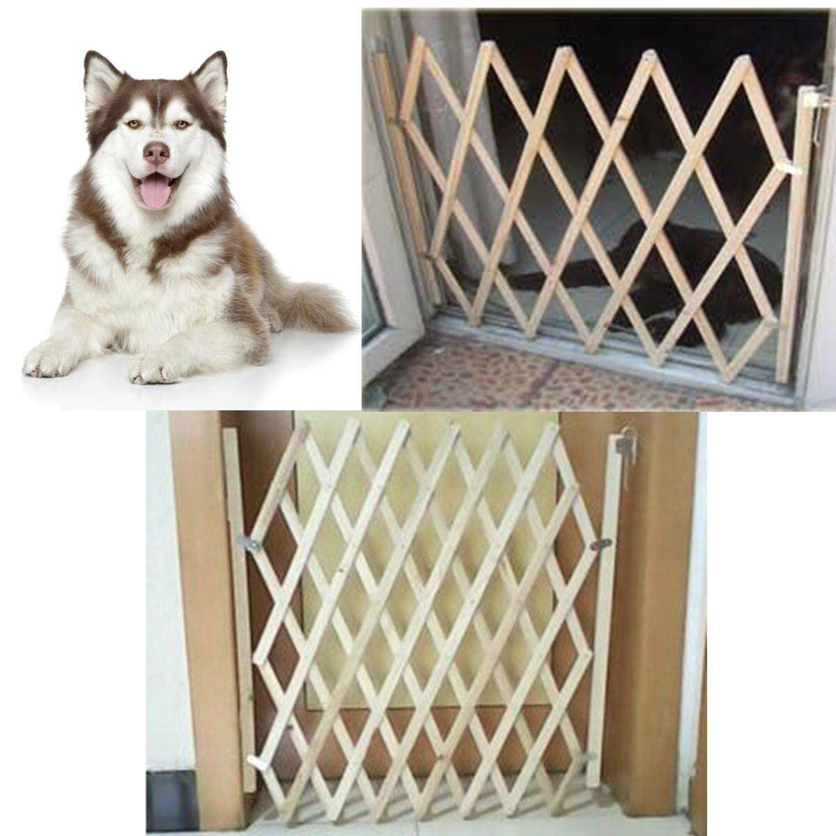 Large Size New Folding Dog Gate Safety Fence Protection Wood Door Cat Pet Barrier Safety Folding Dog Gate Safety Fence Pet Protection Wood Door Cat Dog Pet Barrier Sp By Glimmer.