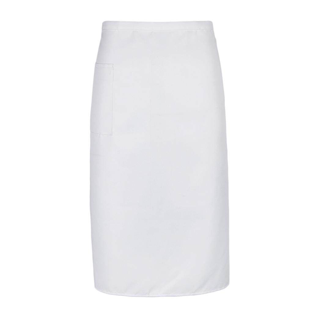 Hình ảnh MagiDeal Kitchen Half Length Waist Apron Catering Chef Hotel Waiter Apron White