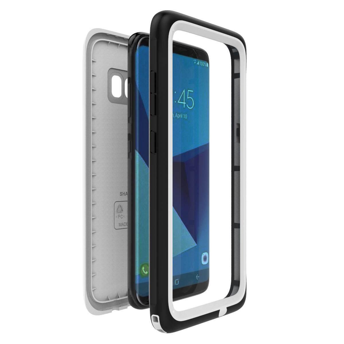 Moonmini Case untuk Samsung Galaksi S8 Ultra Ramping Anti-Air Anti Guncangan Dirtproof Snowproof Penuh Badan Case Sarung Pelindung dengan Desain Tombol dan Fungsi Sentuh Identitas-Internasional