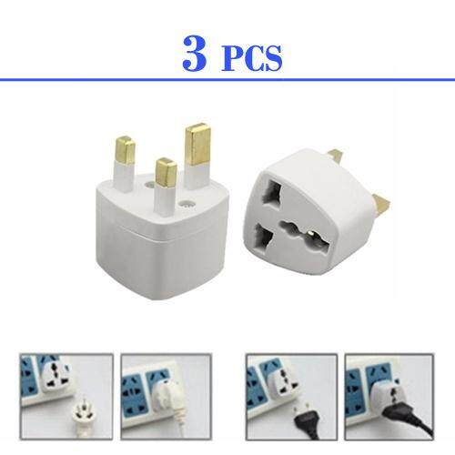 (3 pcs)3 Pin Plug Universal Travel Adapter Socket