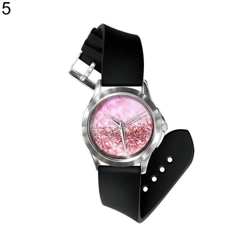 Sanwood® Fashion Unisex Gradient Color Dial Matte PVC Band Quartz Pin Buckle Wrist Watch (5#) Malaysia