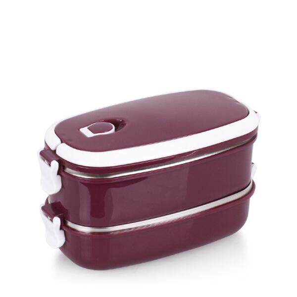 Oval stainless steel insulated lunch box barrel multi-layer square student lunch box set insulation