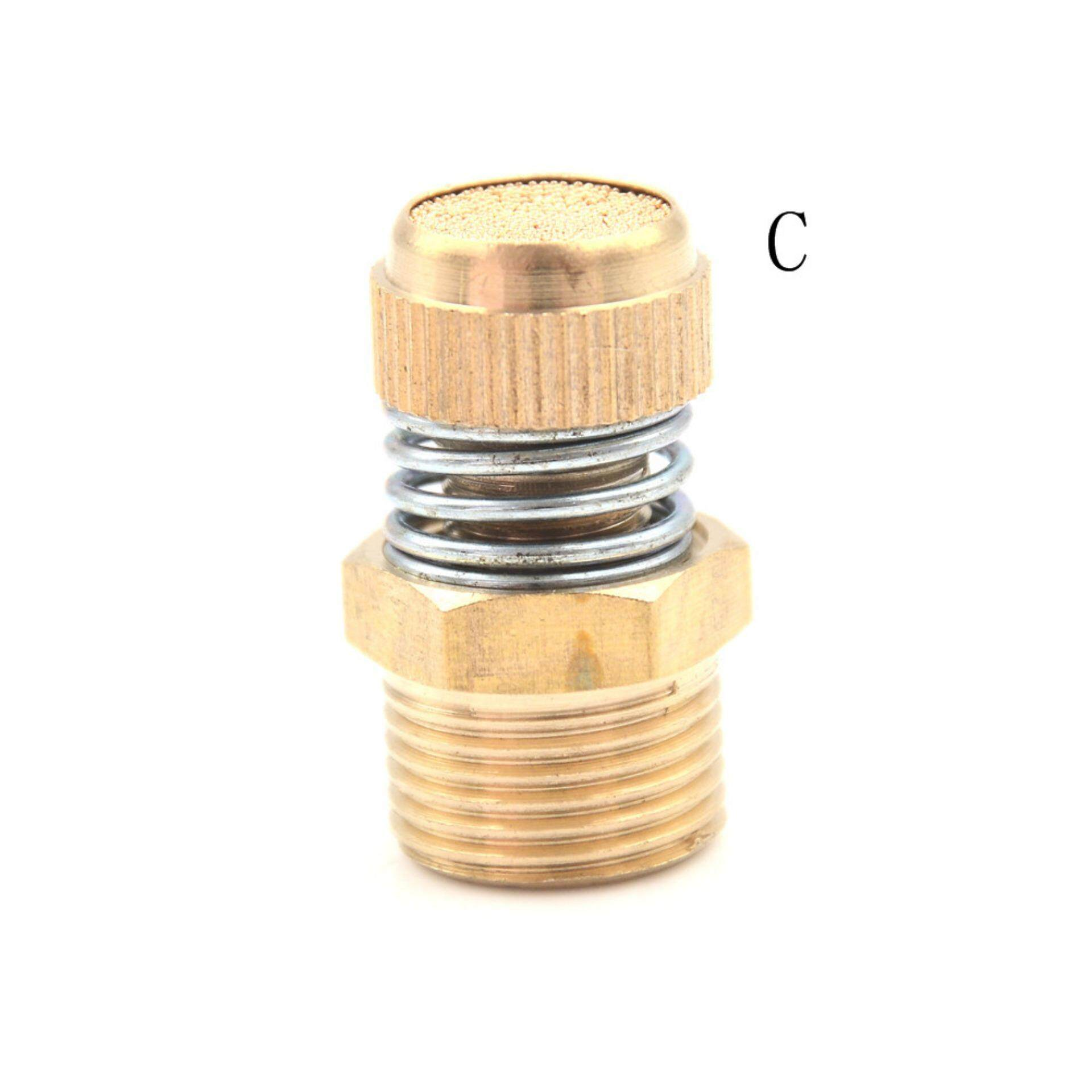 Bảng giá Pneumatic Brass Spring Flow Control Silencer Air Exhaust Muffler Fitting Type:C - intl