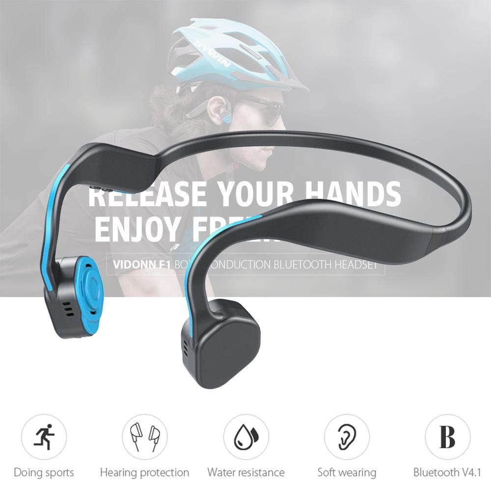 Vidonn F1 Titanium Bone Conduction Headphones Wireless Bluetooth Earphone Outdoor Sports Headset Ip55 Waterproof With Mic Hands-Free By Chris Electronic Store.