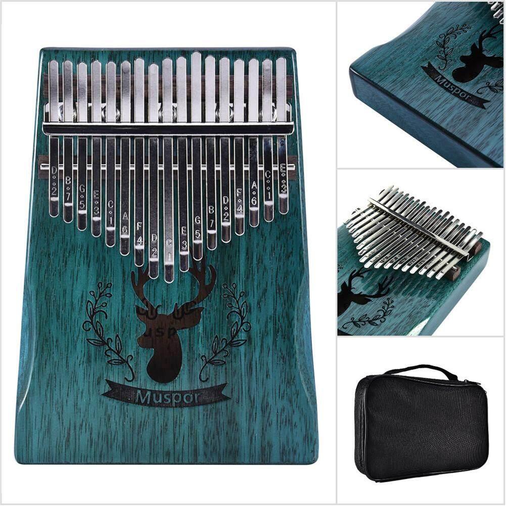 17 Keys Wooden Kalimba African Mahogany Thumb Piano Finger Percussion Music  (Reindeer Blue)