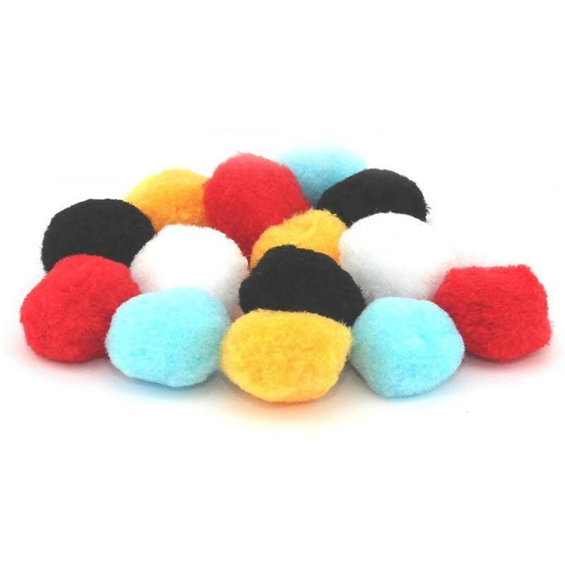 15 Mixed Fluffy Felt Pom poms Ball Assorted Colors 5cm,color