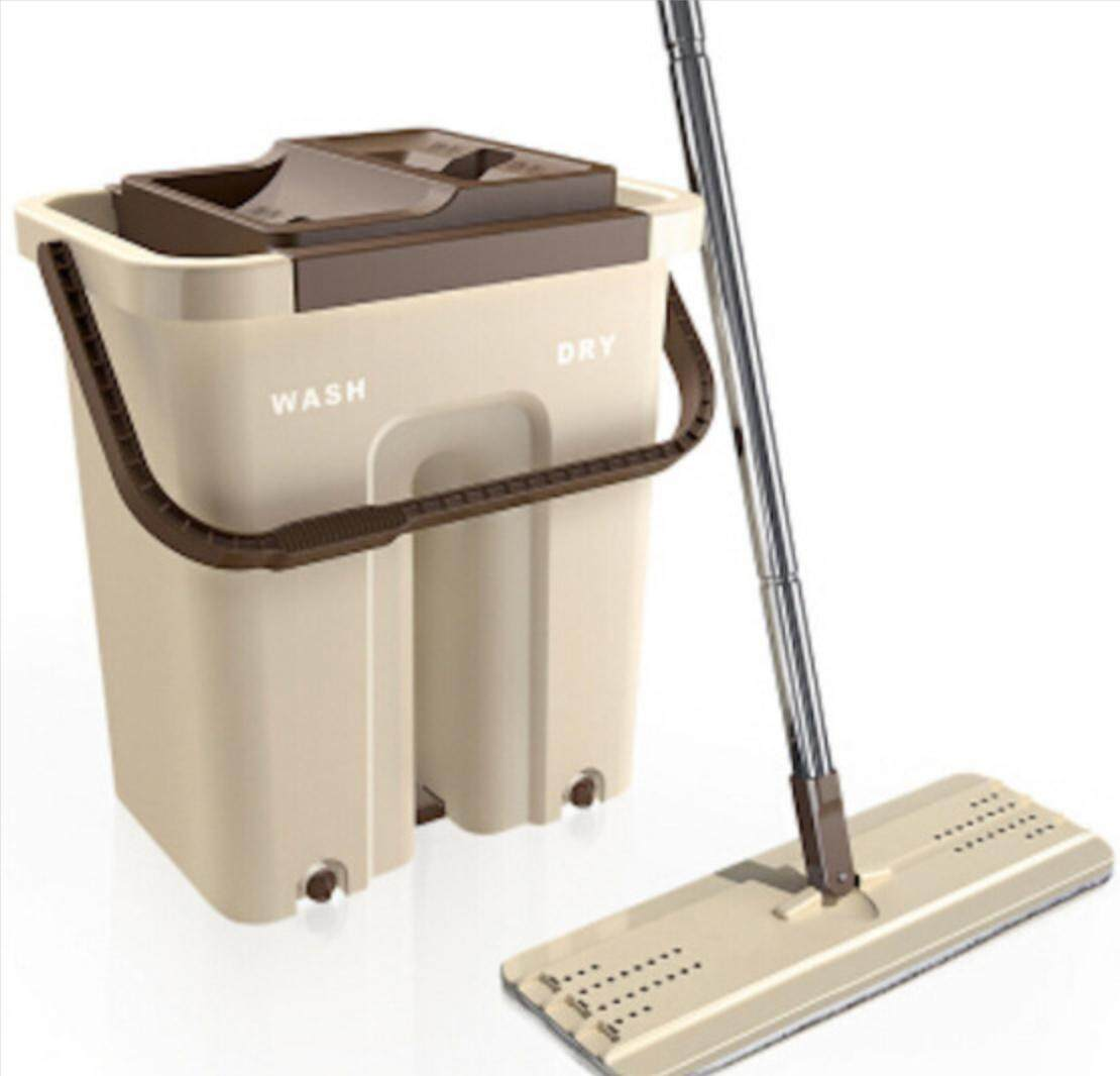 2 in 1 Self - Wash & Squeeze Dry Scratch Mop (Brown)