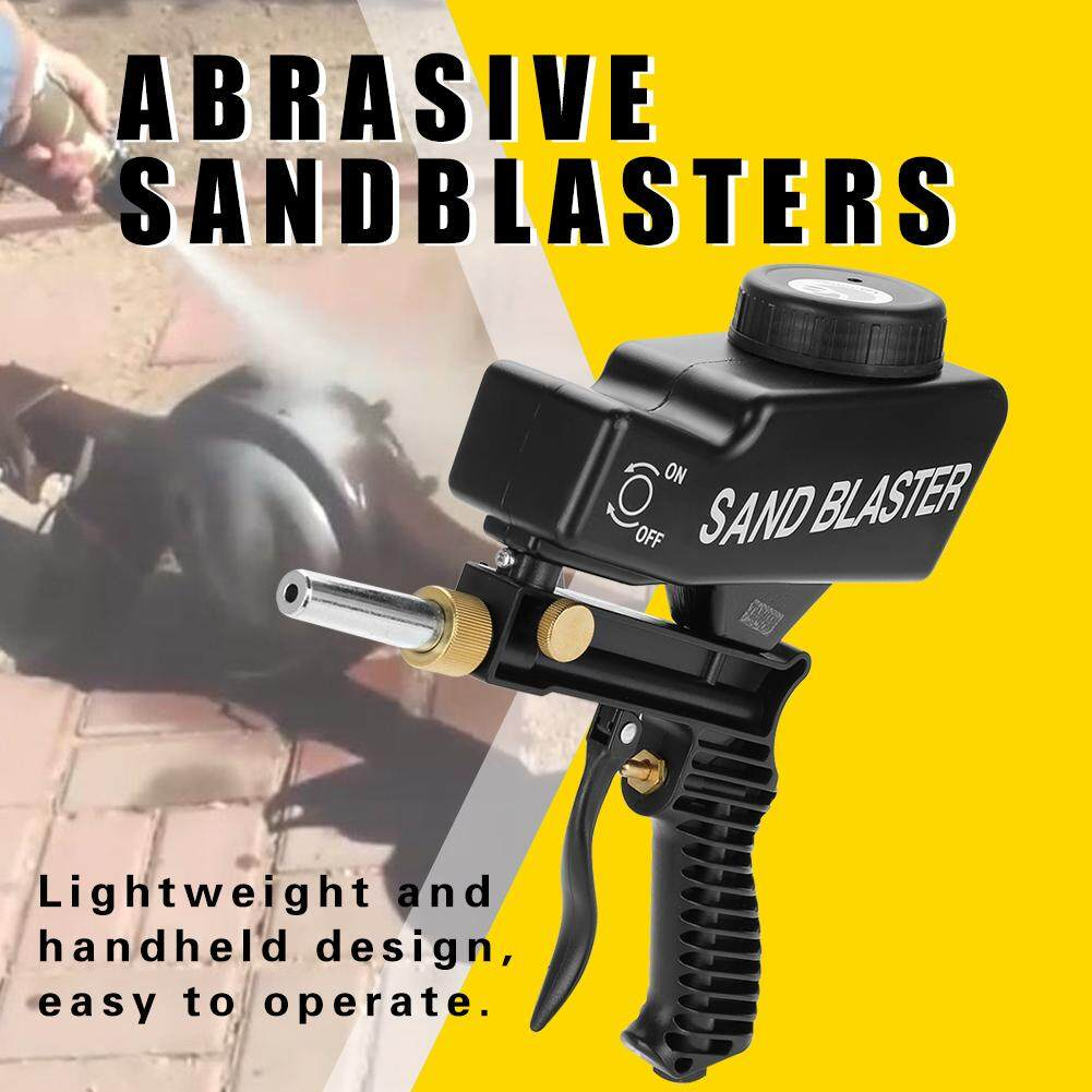 duoqiao [Clearance Sale] Gravity Feed Portable Pneumatic Abrasive  Sandblasting for Removing Spot Rust Black