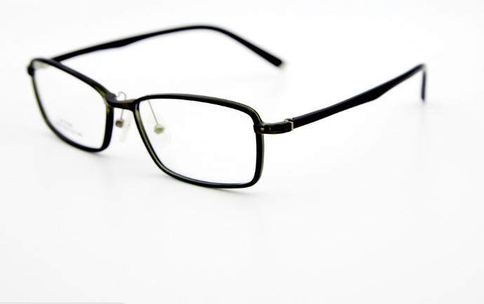 Detail Gambar LUDA Alloy Eyeglasses Big Frame Tr90 Eyewear Retro Spectacle Glasses For Men (Black) Terbaru