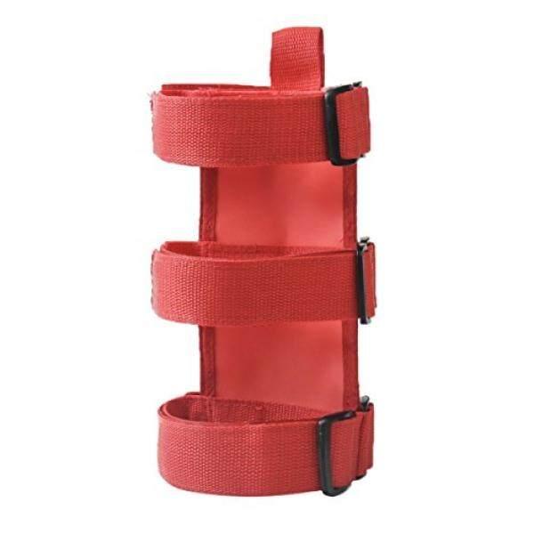 Vulcan-X VXAR Fire Extinguisher Holder Adjustable Roll Bar Mounted for Jeep Wrangler(Red)