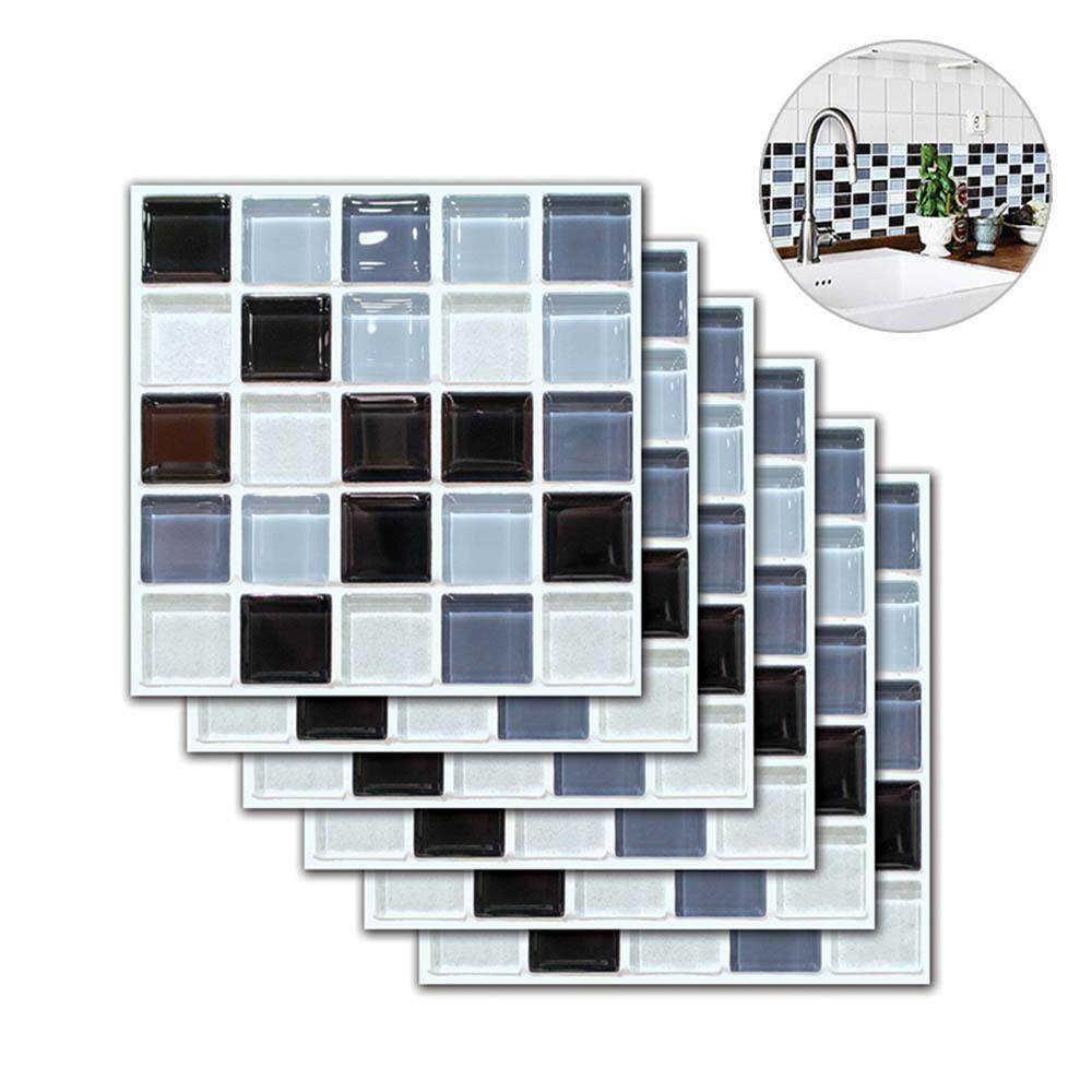 100 Piece Mirror Tile Wall Sticker 3D Decal Mosaic Room Decor Stick On Modern #E